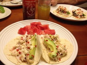 Grilled Fresh Fish Tacos with Sriracha Slaw - Once in a Blue Spoon