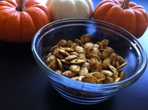 curry roasted pumpkin seeds