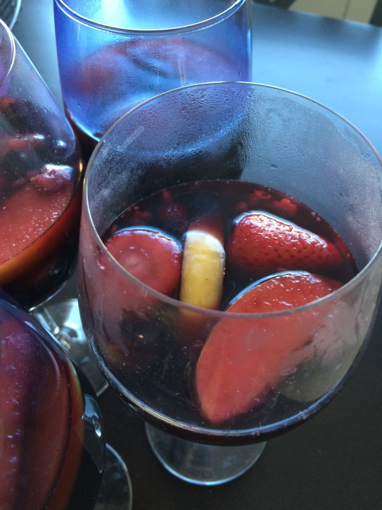Spiced Hot Apple Cider Berry Sangria