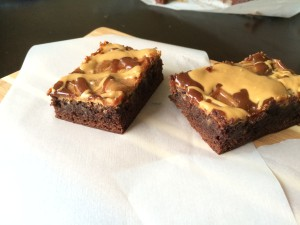 Peanut Butter Hot Fudge Brownies