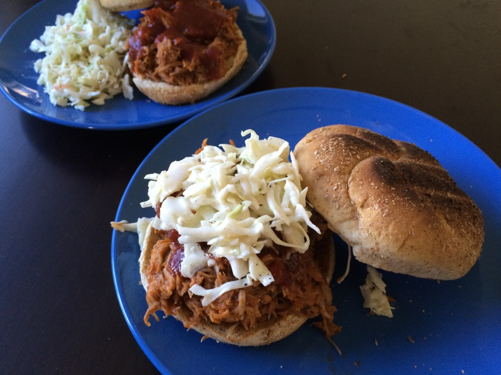 Hard Apple Cider Pulled Pork with Homemade BBQ Sauce and Coleslaw