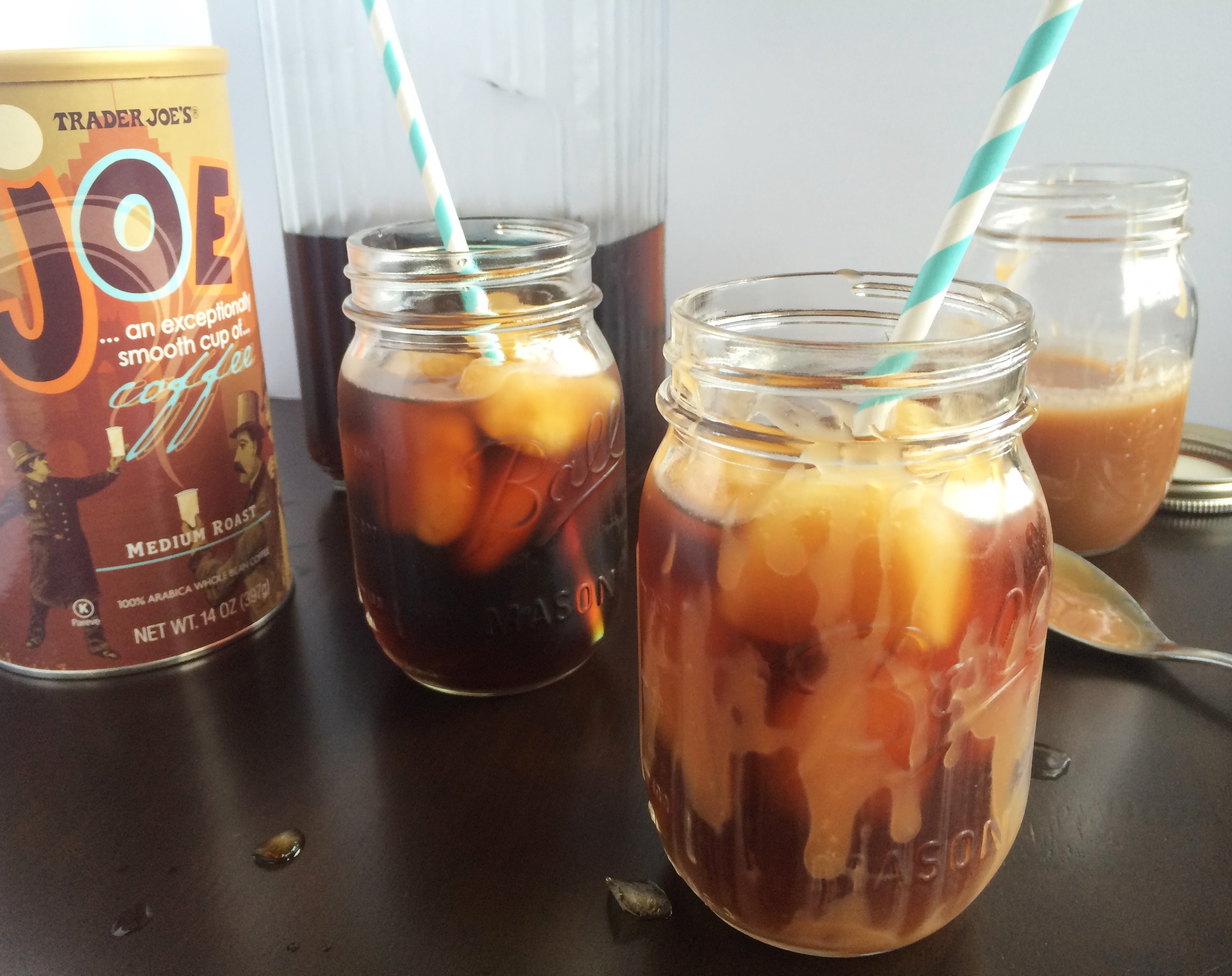 Cold Brew Iced Coffee with Caramel * Once In A Blue Spoon