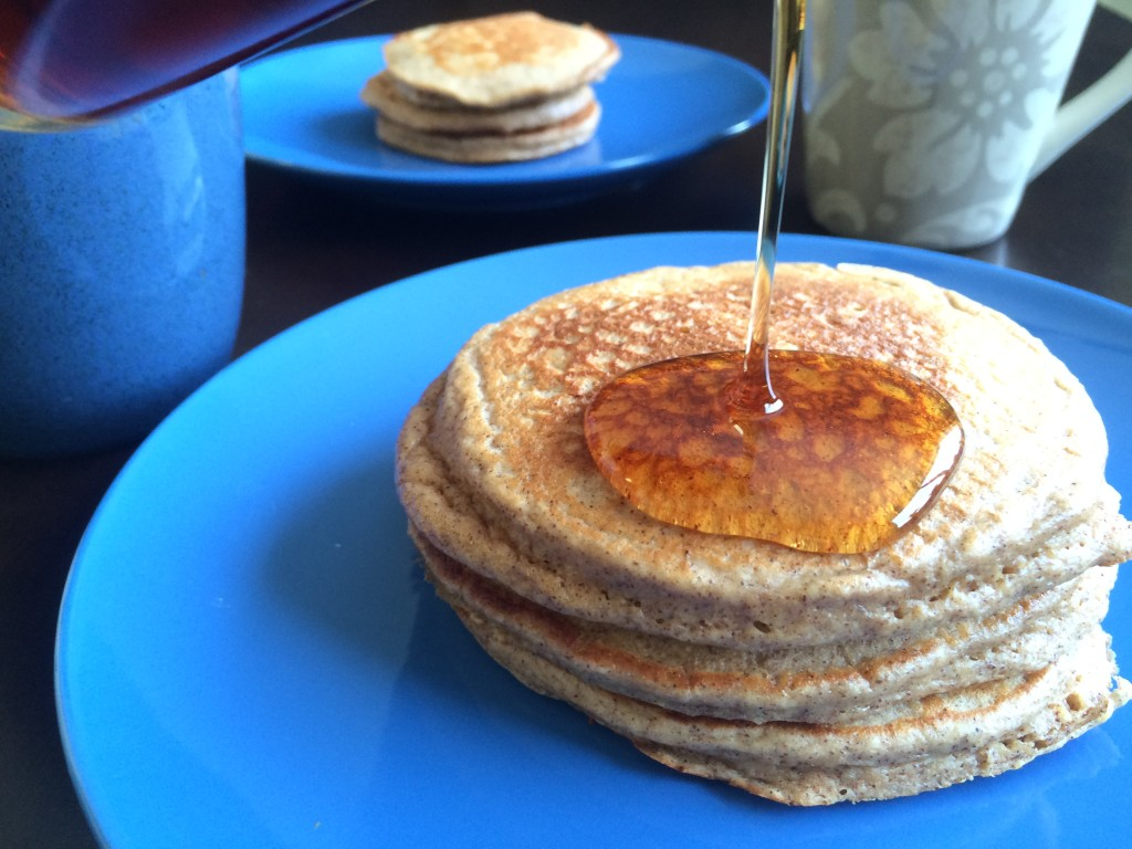 Oat and Greek Yogurt Pancakes * Once In A Blue Spoon