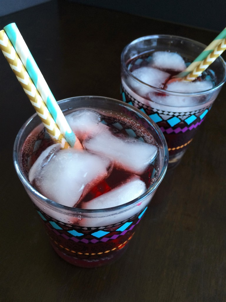 Pomegranate Spiced Rum Sparkler * Once In A Blue Spoon
