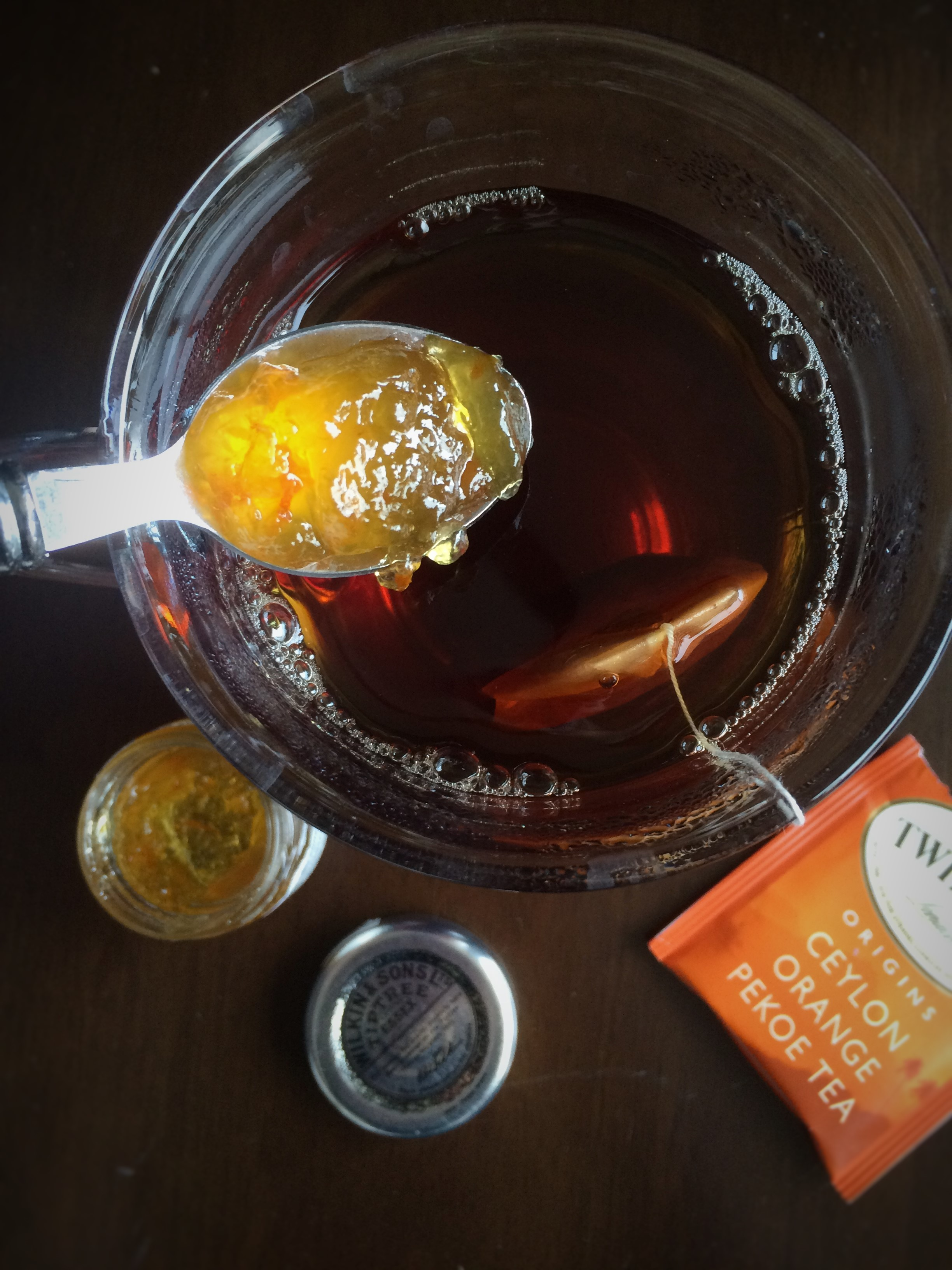 Orange spiced rum hot tea toddy once in a blue spoon for Mix spiced rum with