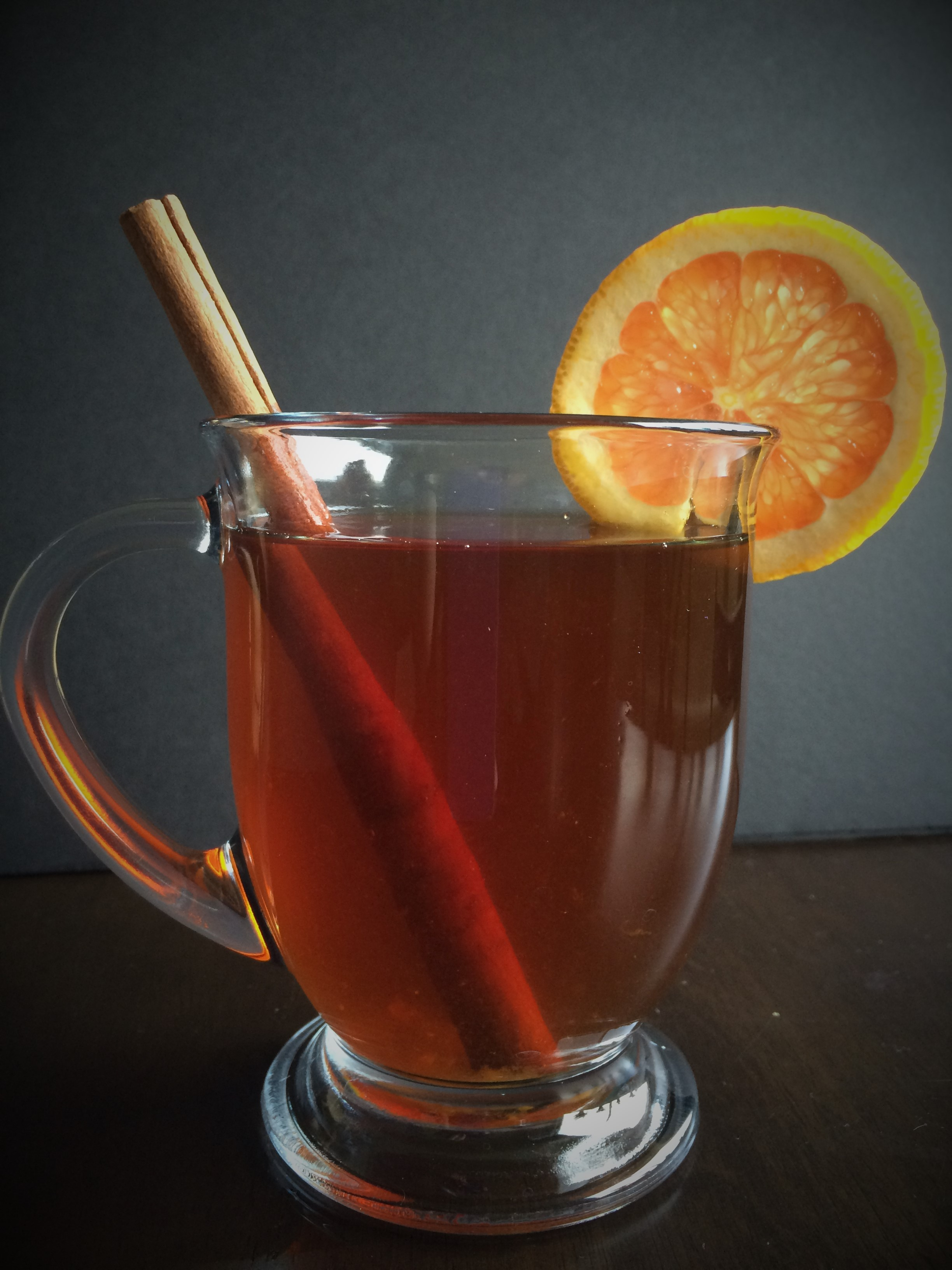 Orange Spiced Rum Hot Tea Toddy * Once in a Blue Spoon