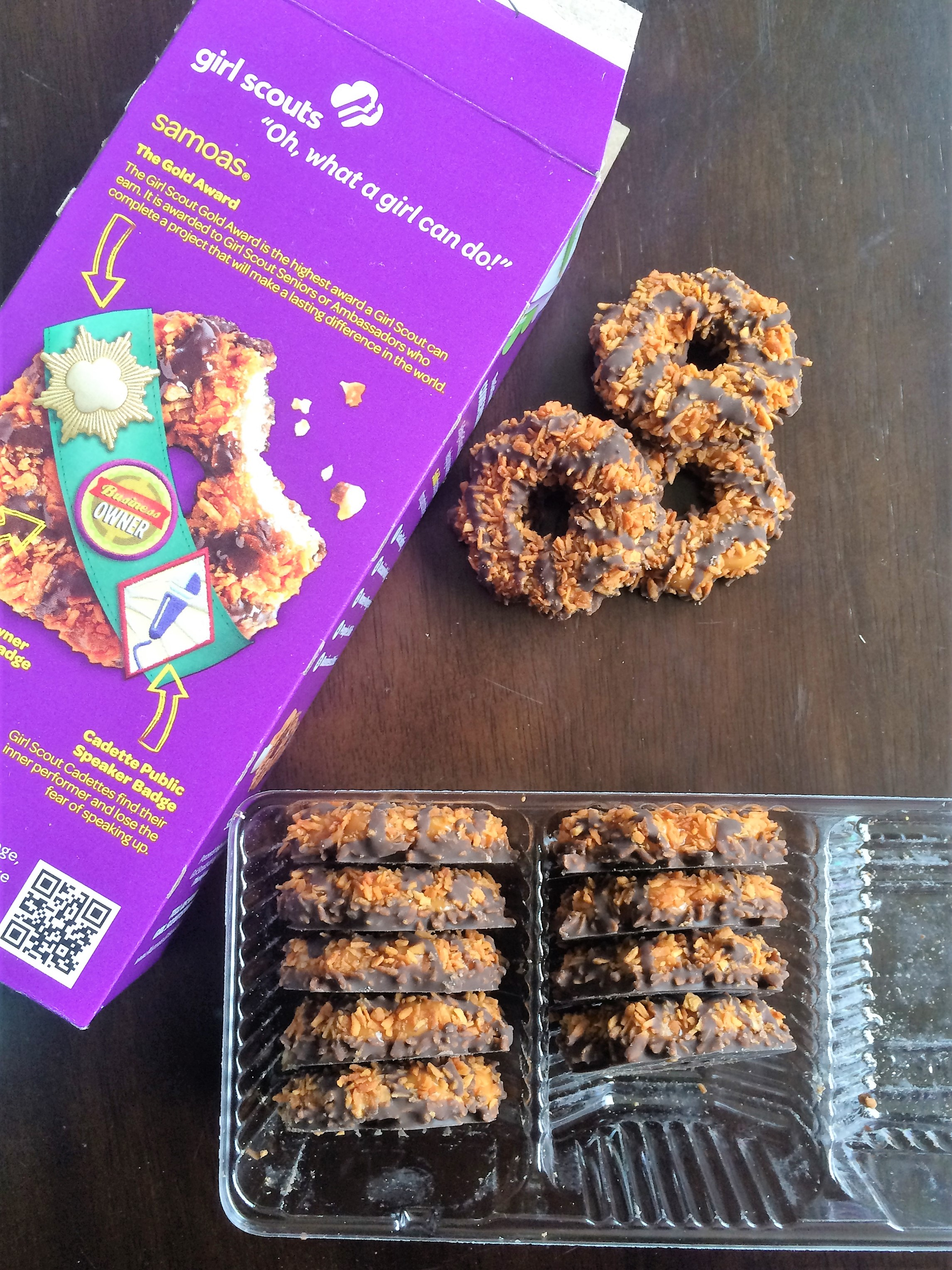 Girl Scout Cookie Samoa Coconut Salted Caramel Chocolate Bark * Once In A Blue Spoon