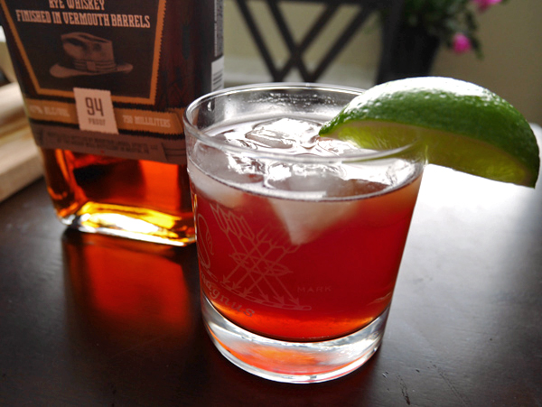 Pomegranate Lime Rye Rickey * Once in a Blue Spoon