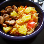 Cajun Pepper and Pineapple Rice with Jerk Chicken * Once in a Blue Spoon