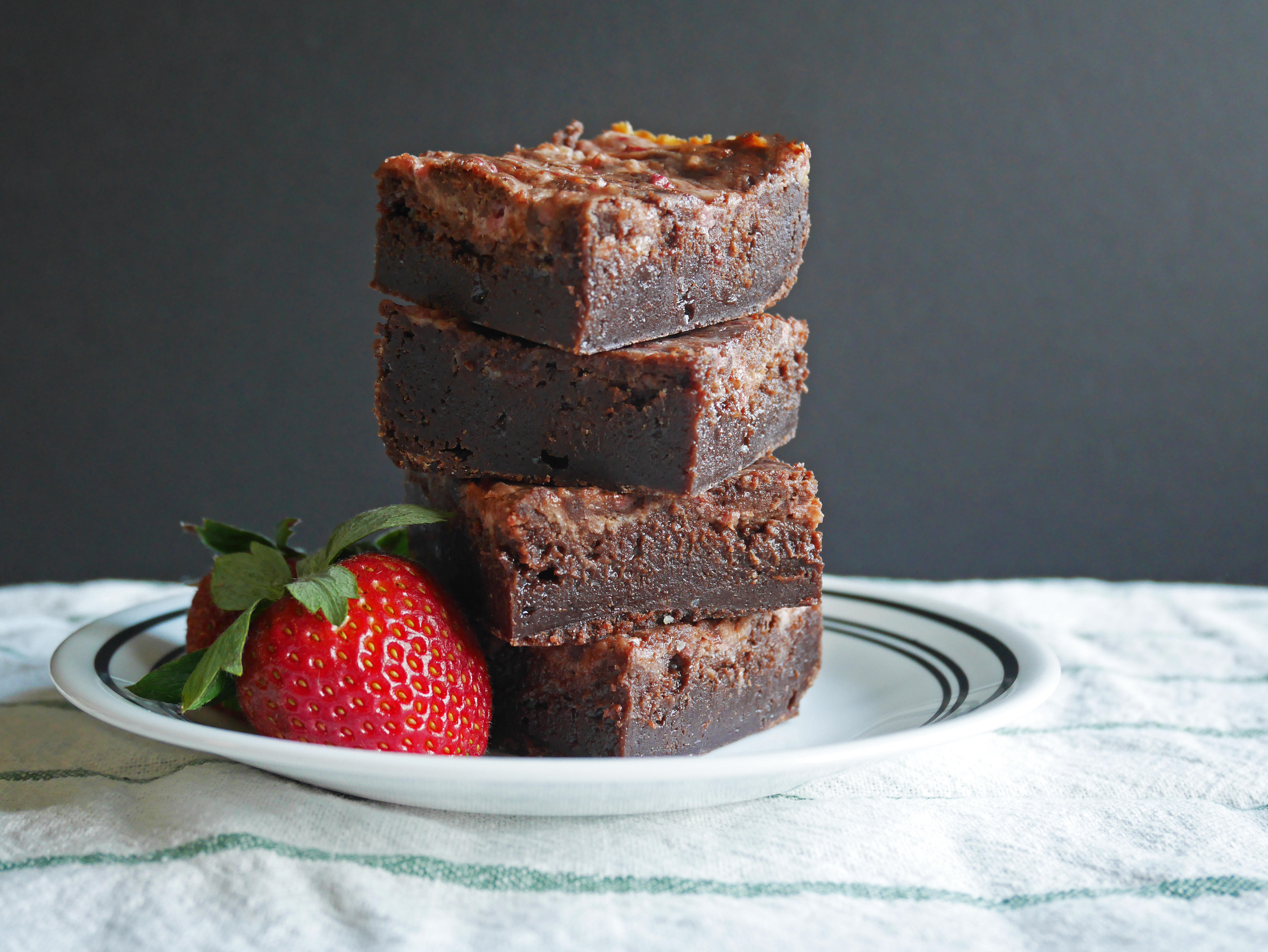 Strawberry Cream Cheese Brownies * Once in a Blue Spoon