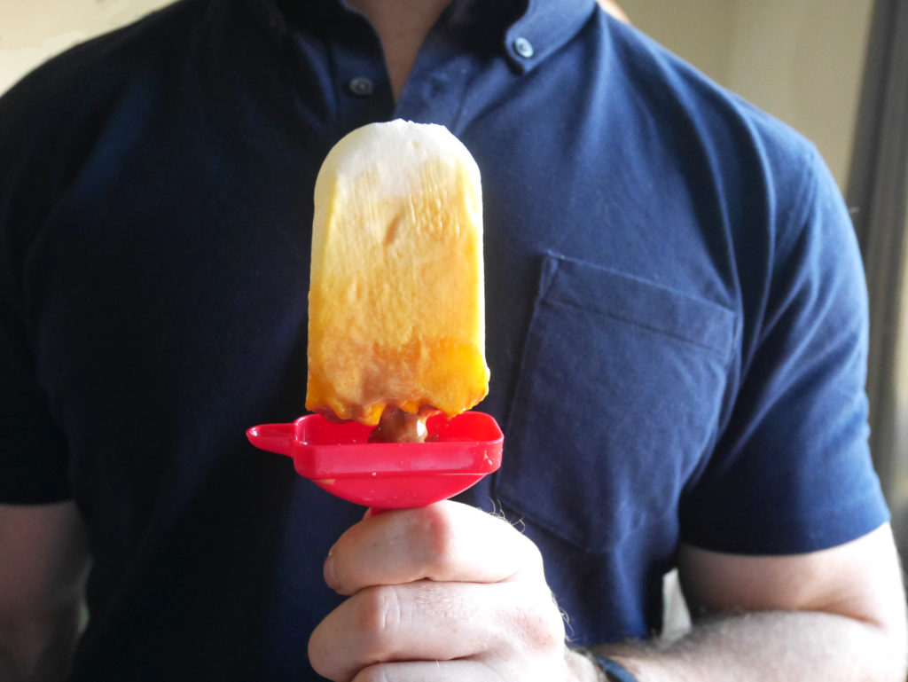 Dulce de Leche Mango Yogurt Pops * Once in a Blue Spoon