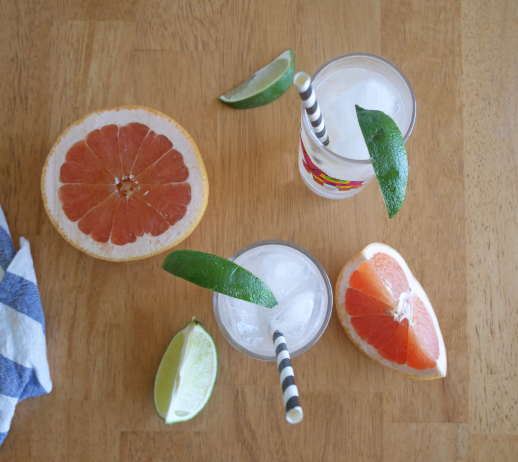 Grapefruit Margarita Spritzer * Once in a Blue Spoon